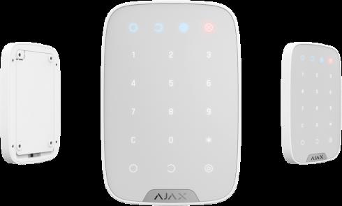 Беспроводная сенсорная клавиатура Ajax KeyPad белая - 1