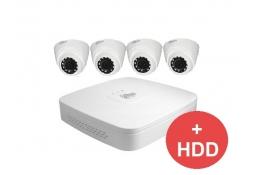Комплект видеонаблюдения для улицыDahua 4xCAM + 1xDVR + HDD