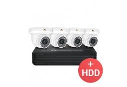 2.0MP Набор видеонаблюдения 4xCAM + 1xNVR + HDD
